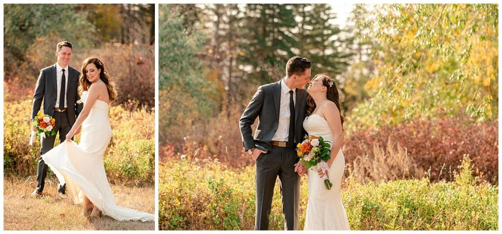 Regina Wedding Photographer - Tim & Jennelle At Home Wedding - Bride spinning in a field