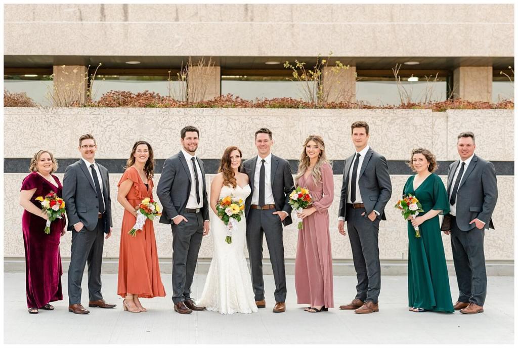 Regina Wedding Photographer - Tim & Jennelle At Home Wedding - Wedding Party at TC Douglas Building