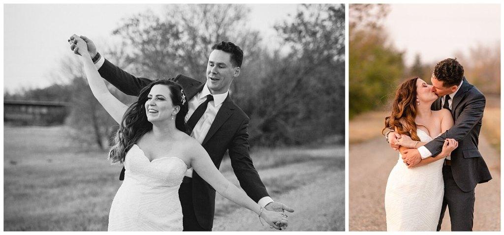 Regina Wedding Photographer - Tim & Jennelle At Home Wedding - Sunset Photos in a field