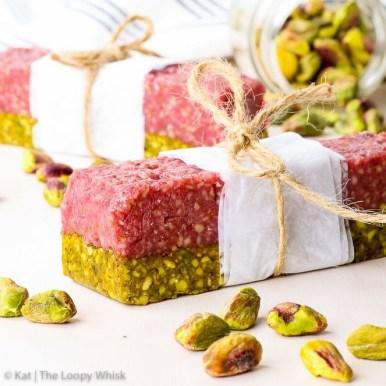 Healthy Pistachio Raspberry Energy Bar