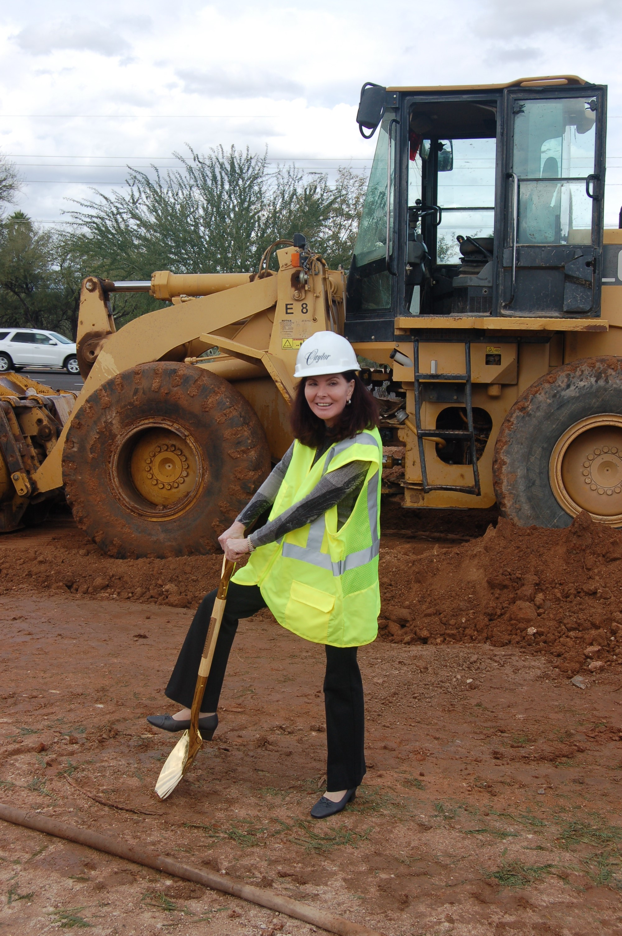 Dr. Courtney breaking ground on the new building site!