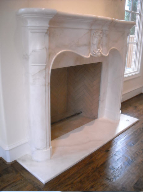 mantel detail marble finish, plaster mantel, faux marble mantel, save money on mantel