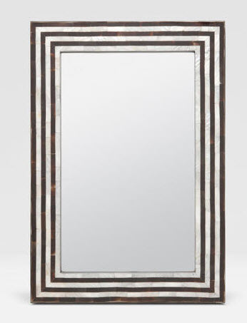 mother of pearl and bone mirror
