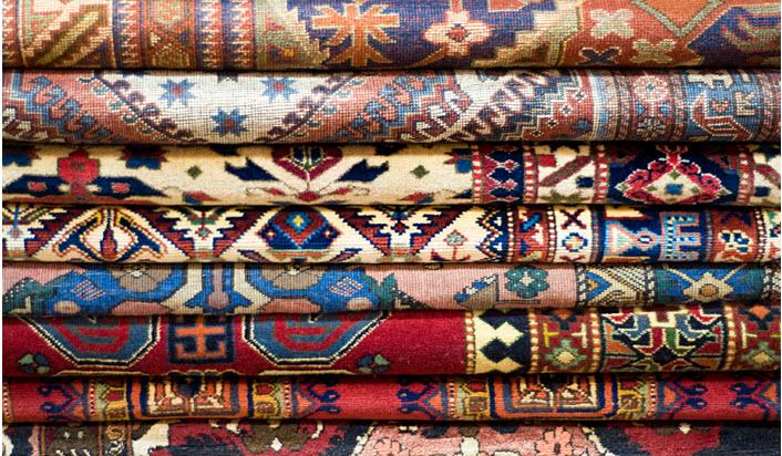 oriental rug stack