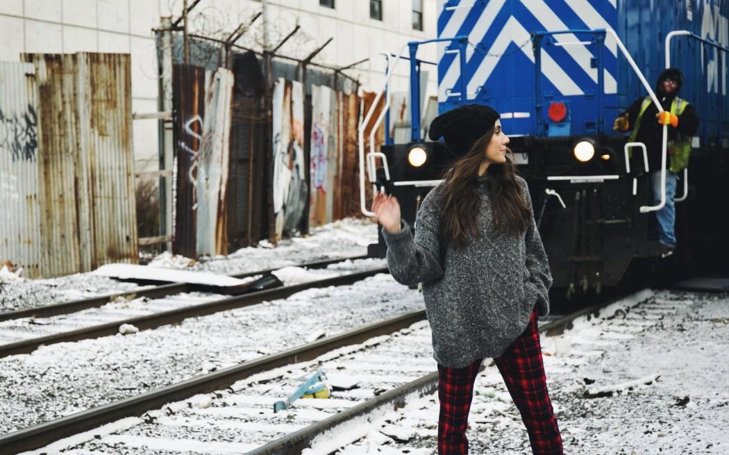 Courtney Scott Travel Blogger Anne Klein Train