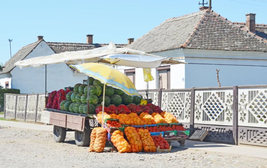 farmstand in Serbia Vojvodina