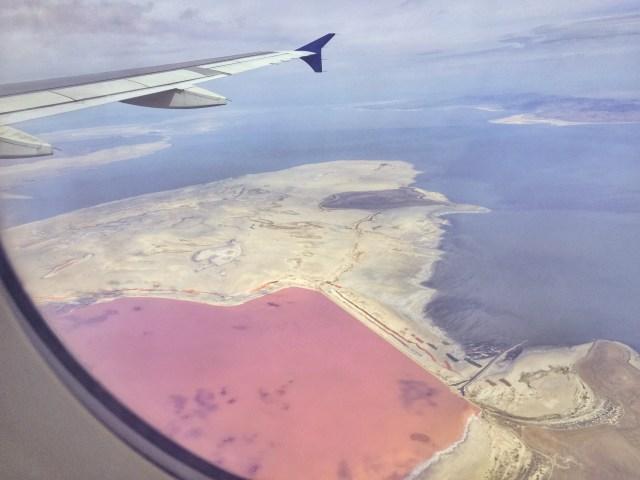 Pantone's Color of the Year Pink Lake in Utah