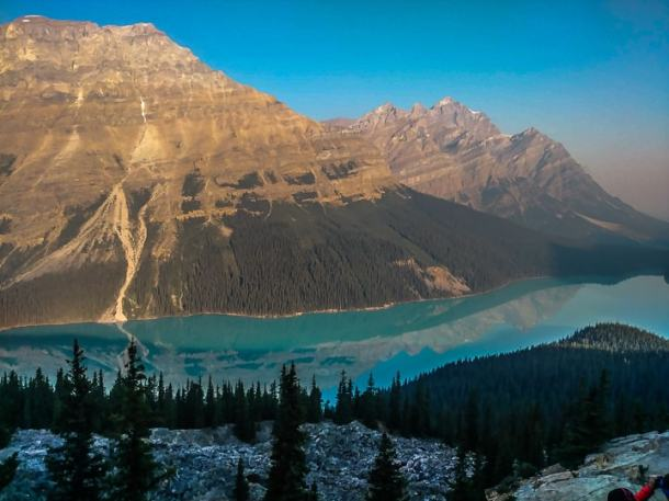 Icefields parkway. Peyto Lake.