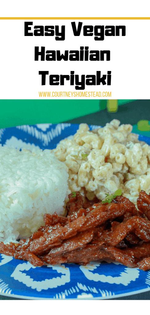 Easy Vegan Hawaiian Teriyaki Chicken