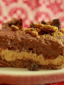 Vegan Peanut Butter Dessert Lasagna