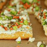 Vegan vegetable ranch pizza