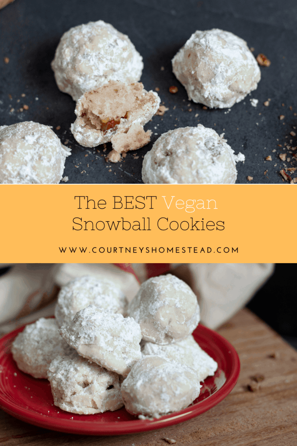 The best vegan snowball cookies