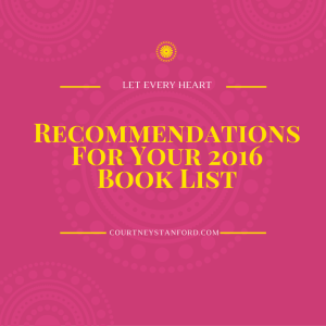 Recommendations For Your 2016Book List