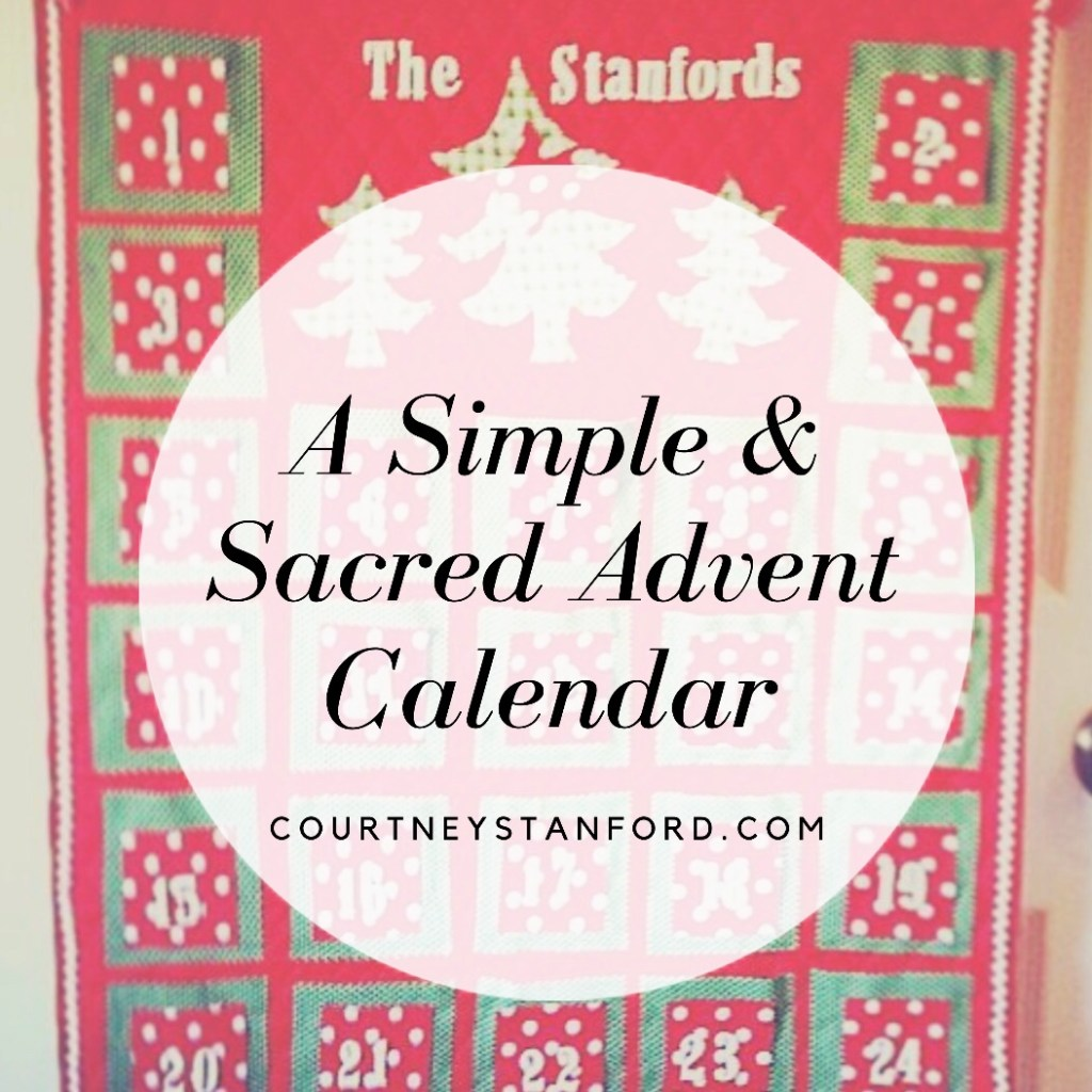 A Simple and Sacred Advent Calendar