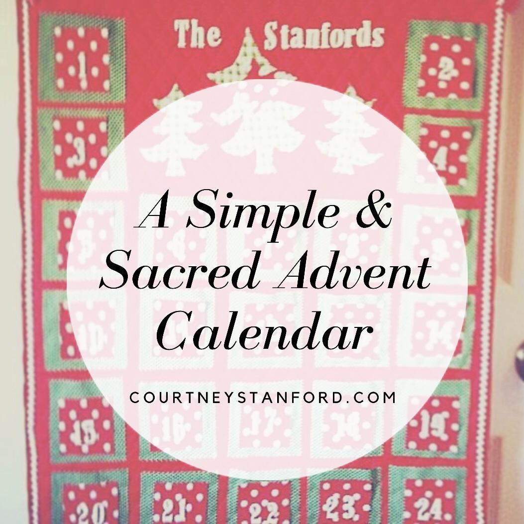 A Simple and Sacred Advent Calendar