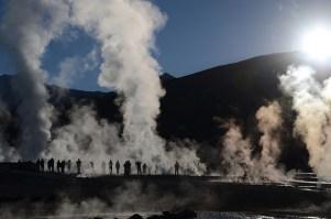 El Tatio geysers in Atacama, Chile.
