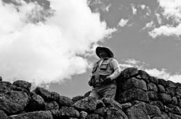A guard at Machu Picchu.