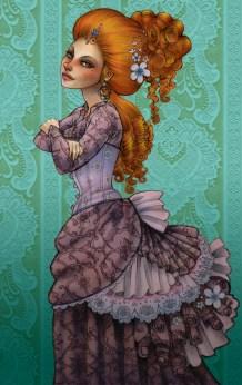 VIctorian Lady | Pencil & Digital, 2012