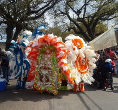 Some beautiful Mardi Gras Indians in their intricate hand-beaded costumes