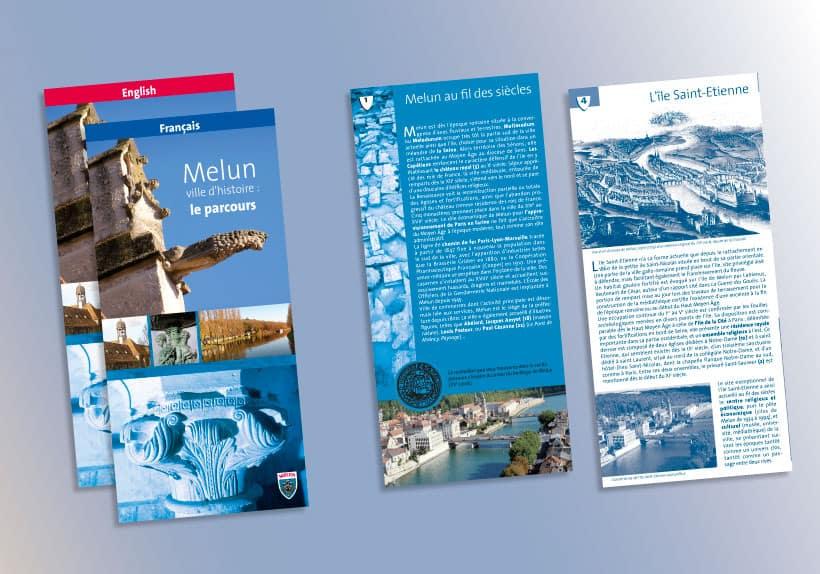 dépliant du parcours historique de la ville de Melun