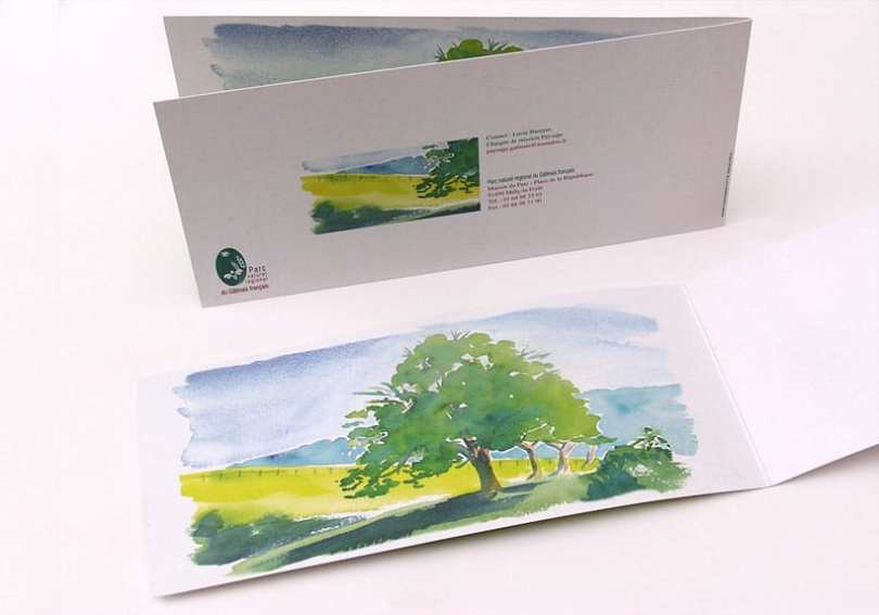 les chartes paysagères aquarelle arbres parc naturel régional du gatinais