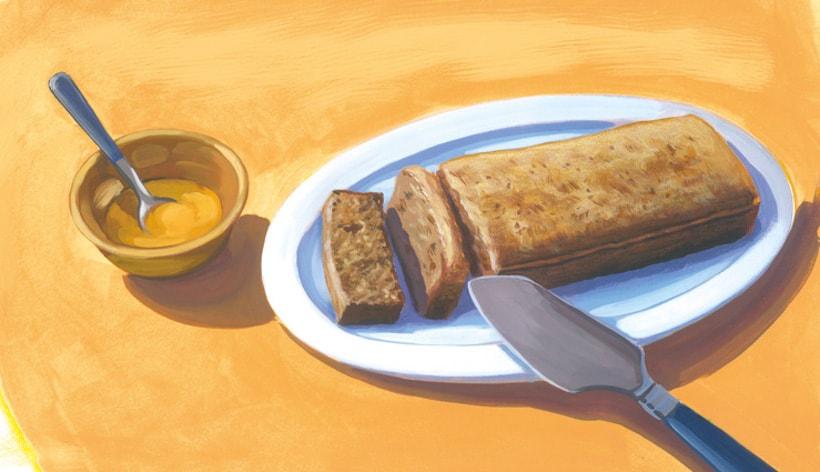 illustration gâteau au miel parc gâtinais français