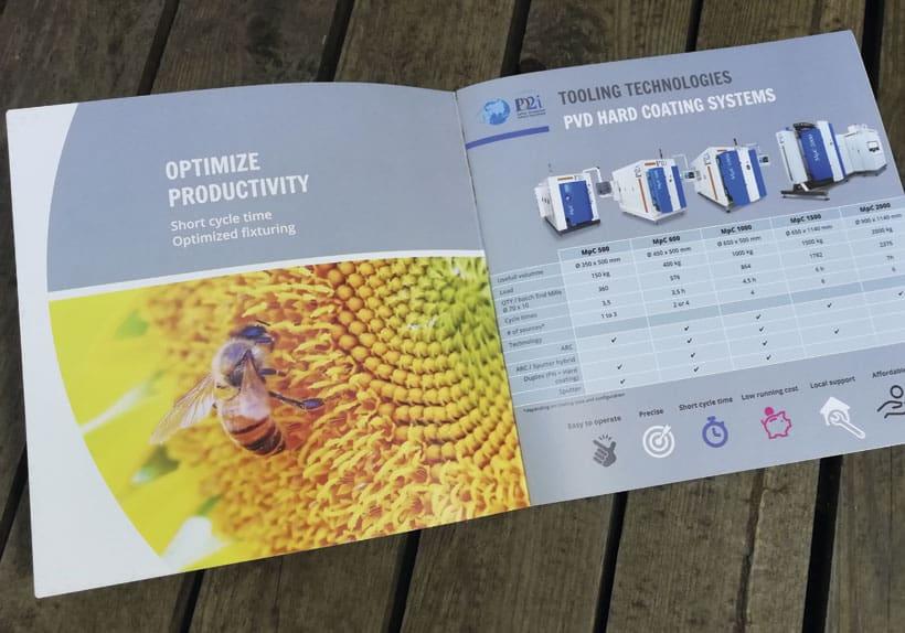 brochure bilingue société pd2i, optimisation productivité