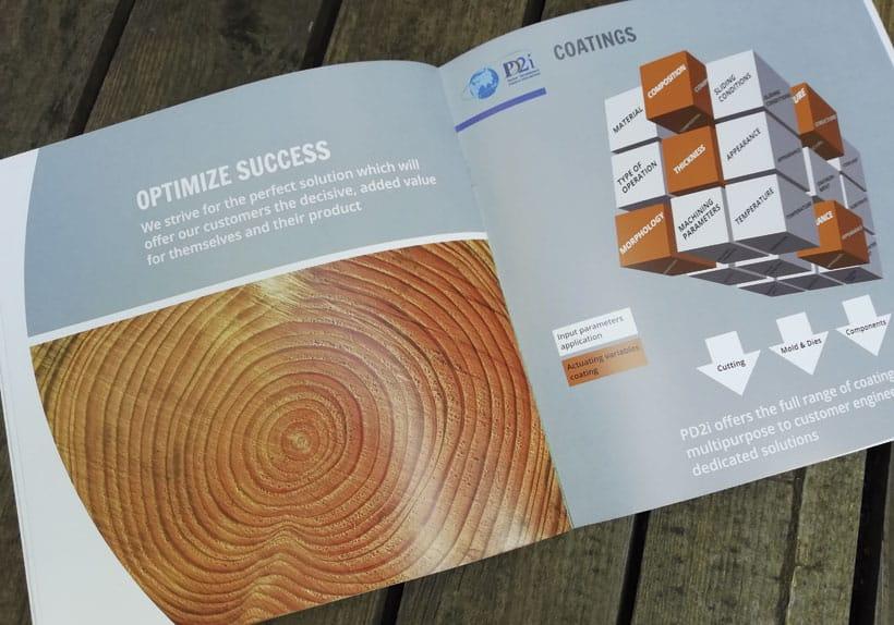 brochure bilingue société pd2i, optimisation