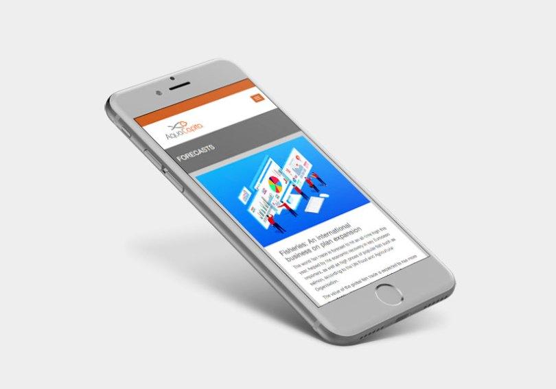 IPhone et site web aquacapita