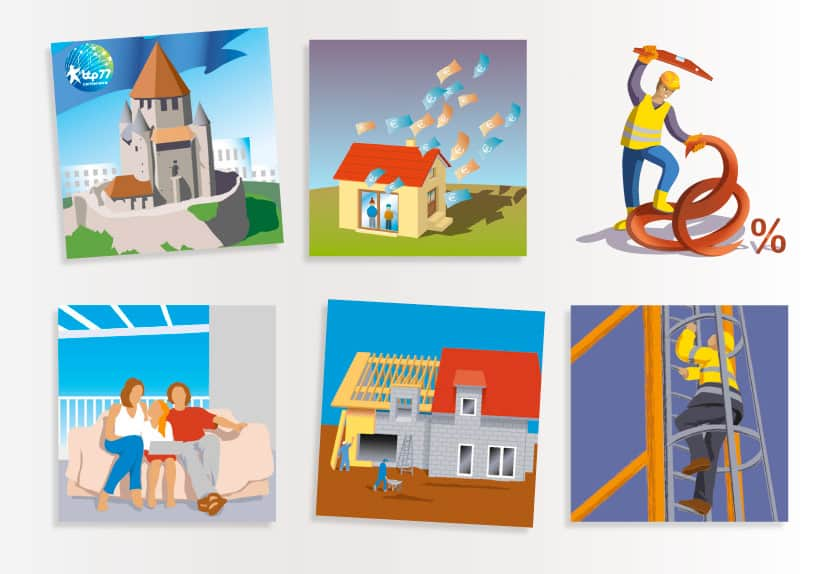 illustrations bâtiment