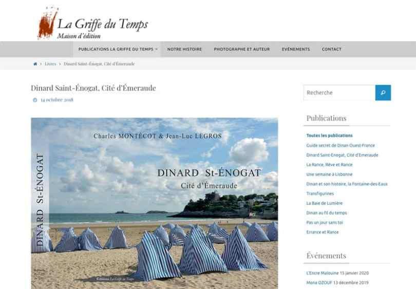 page dinard saint-enogat du site la griffe du temps