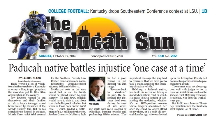 Paducah native battles injustice 'one case at a time'
