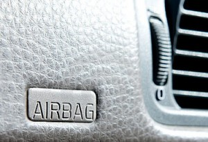 close-up of airbag symbol on dashboard