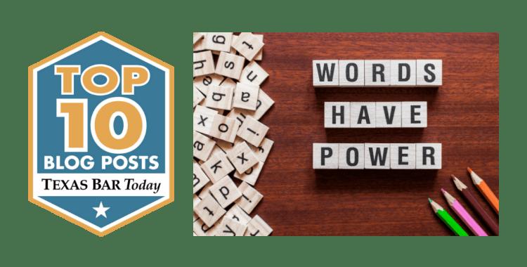 Words Have Power Top Ten Blog