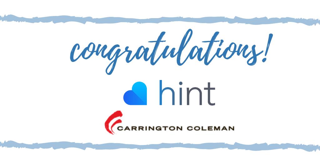 Congratulations Hint Health and Carrington Coleman Sloman & Blumenthal