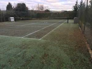 A tennis court in Brastead before restoration