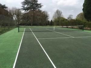 A tennis court before restoration in Sissinghurst