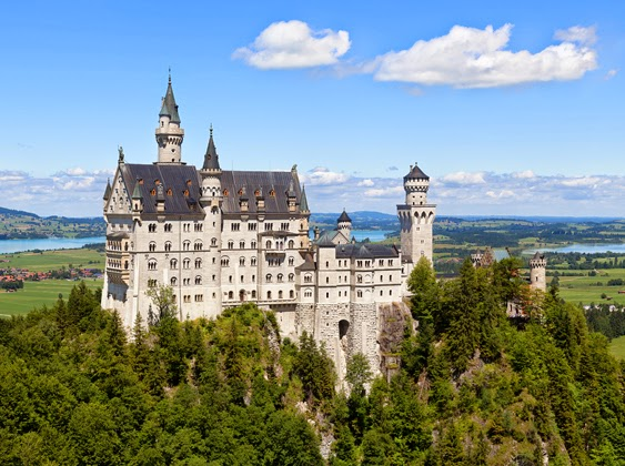 """Neuschwanstein Castle, in Bavaria, Germany, which looks similar to Cinderella's castle in Disney World, used to illustrate both an e-book and an article by Richard Klass with titles such as """" A Man's Home Is (Not Always) His Castle: RPAPL 881 License to Enter Neighbor's Property. """""""