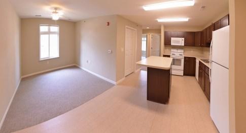 Kitchen & Living Room