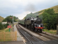 Steam train on the Swanage Railway