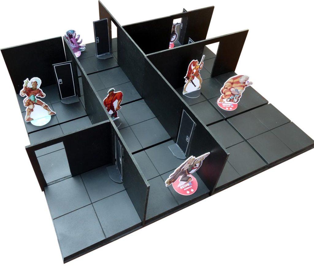 plateau de jeu à plat