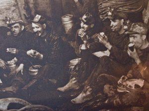 Miners Eating Cornish Pasties on the Job