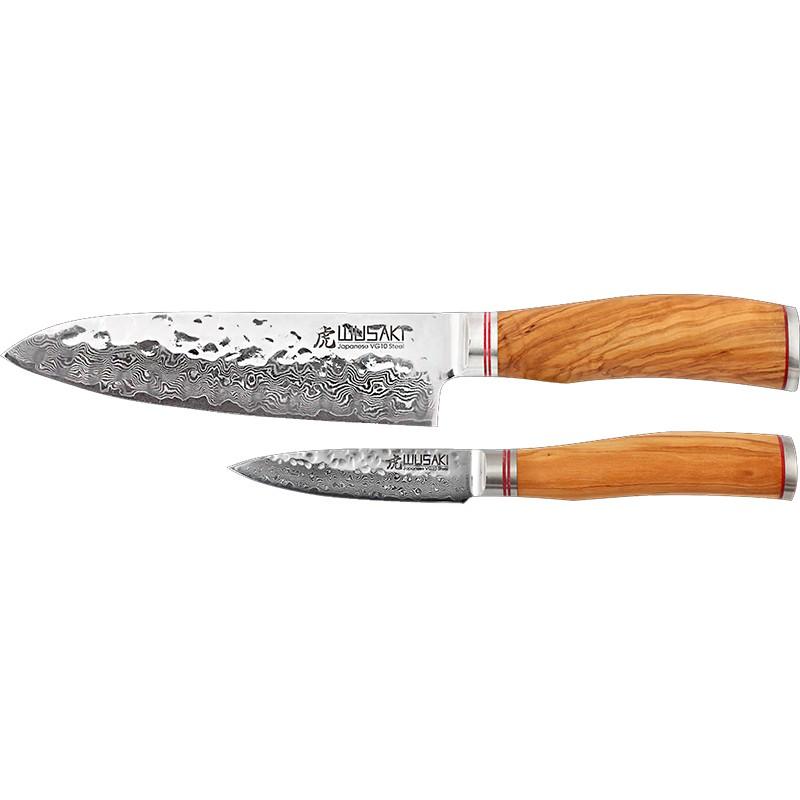 coffret couteau japonais santoku alveole office wusaki 8011