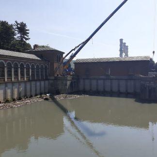 Manutenzione dell'imbocco del Canale Cavour