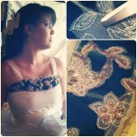Hand Applique and beading