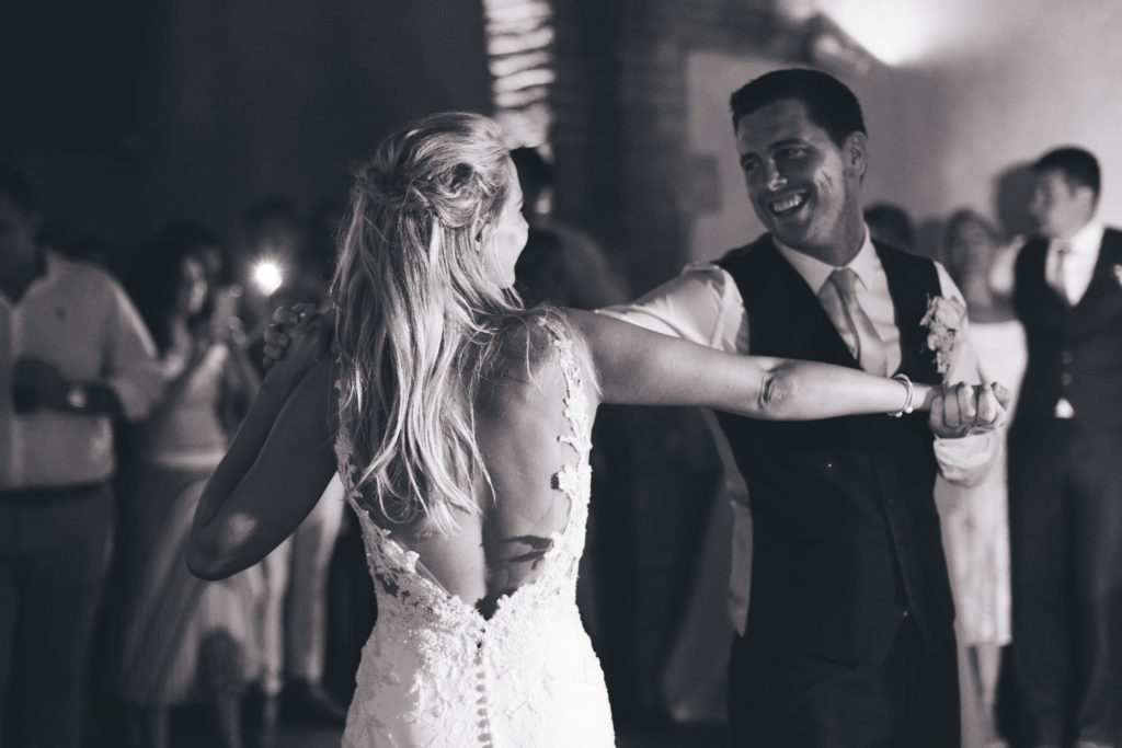 Happy Couple at their wedding Tuscany, Italy, Wedding Photography by Couture Wedding Films