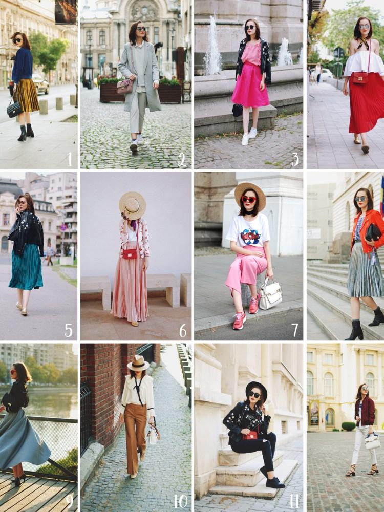 Couturezilla, Cute pinterest autumn fall outfit ideas recap 2016, fashion blogger, leather jackets, midi skirts, fashion trends, tumblr summer outfits