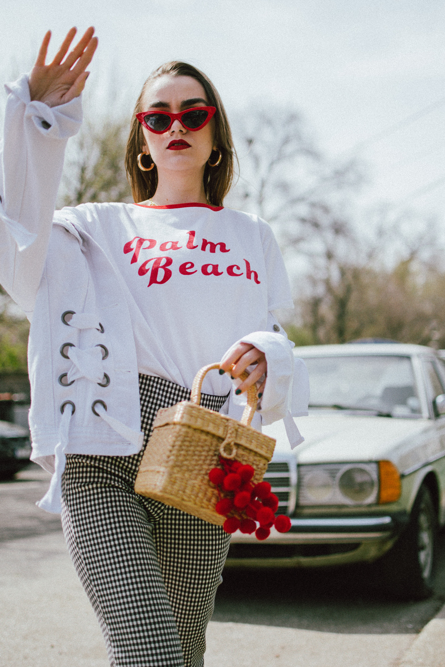 The Best Spring Basics Gingham Trousers Amp Graphic T