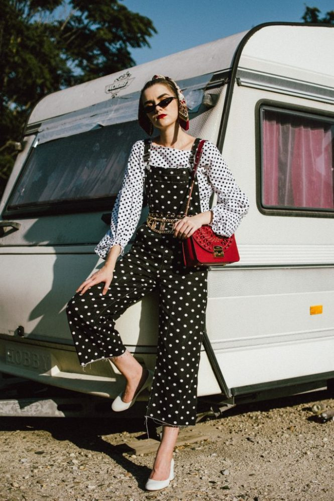 Polka dot denim dungaree, balloon sleeve top, white heels, red furla bag, andreea birsan, couturezilla, cute fall outfit ideas 2018fashion, fall outfit, fall ootd, fall perfect, transitional dressing, best transitional outfit ideas, how to wear statement earrings, dressing for autumn, autumn outfit, winter outfit ideas for work and school 2017, black and white polka dot denim dungarees, denim overall, how to look chic in denim dungarees, polka dot jumpsuit, polka dot overall for fall 2018, how to layer a jumpsuit, what to wear with a denim overall, how to avoic looking like a kid in dungarees, how to pattern clash, how to mix two polka dot pieces, what to wear with polka dots, how to make polka dots look chic, black white and red outfit, what shoes to wear with wide leg dungarees, wide leg polka dot denim dungarees, culotte dungarees, zara cotton white polka dot lantern sleeve blouse, polka dot balloon sleeve top, polka dot shirt, chic polka dot top, statement earrings, rhinestone earrings, teardrop rhinestone earrings, asos small cat eye sunglasses, micro sunglasses trend, mini sunglasses, small sunglasses, small cat eye sunnies, burgundy scarf, how to style a silk scarf in your hair, hair scarf, pony tail with scarf, white leather pumps, white block heel leather pumps, white square heel pumps, ruby red lace insertion furla metropolis shoulder bag, red furla metropolis, insertion furla metropolis bag, chain belt, la femme chain belt, sold out chain belt, how to style denim dungarees in fall, autumn outfit ideas 2018, how to look Parisian chic, European summer street style inspiration for women 2017, pinterest chic outfit ideas for woman, summer outfit ideas, summer ootd inspiration, outfit of the day, ootd, fashion icon, style inspiration, fashionista, fashion inspiration, style inspo, what to wear in summer, how to look French, chic on a budget, zara outfit, mango, topshop, asos, river island, forever 21, urban outfitters, how to mix high end pieces with luxury ones, zara and Gucci,outfit alternatives for summer, tomboy chic, minimal outfit, tumblr girls photos, pictures, happy girl, women, smart casual outfits, the best outfit ideas 2017, what to wear when you don't feel inspired, summer in Europe, weekend attire, uniform, French women in summer, European outfit ideas 2017, minimal chic outfit, how to stand out, the best outfit ideas for summer, the sunglasses you have seen everywhere on Instagram, glasses, uk fashion blogger, united kingdom, uk fashion blog, fashion and travel blog, Europe, women with style, street style, summer fashion trends 2017, best fashion ideas, styling, fall fashion, fall outfit, fall ootd, fall perfect, transitional dressing, best transitional outfit ideas, how to wear statement earrings, dressing for autumn, autumn outfit, winter outfit ideas for work and school 2017