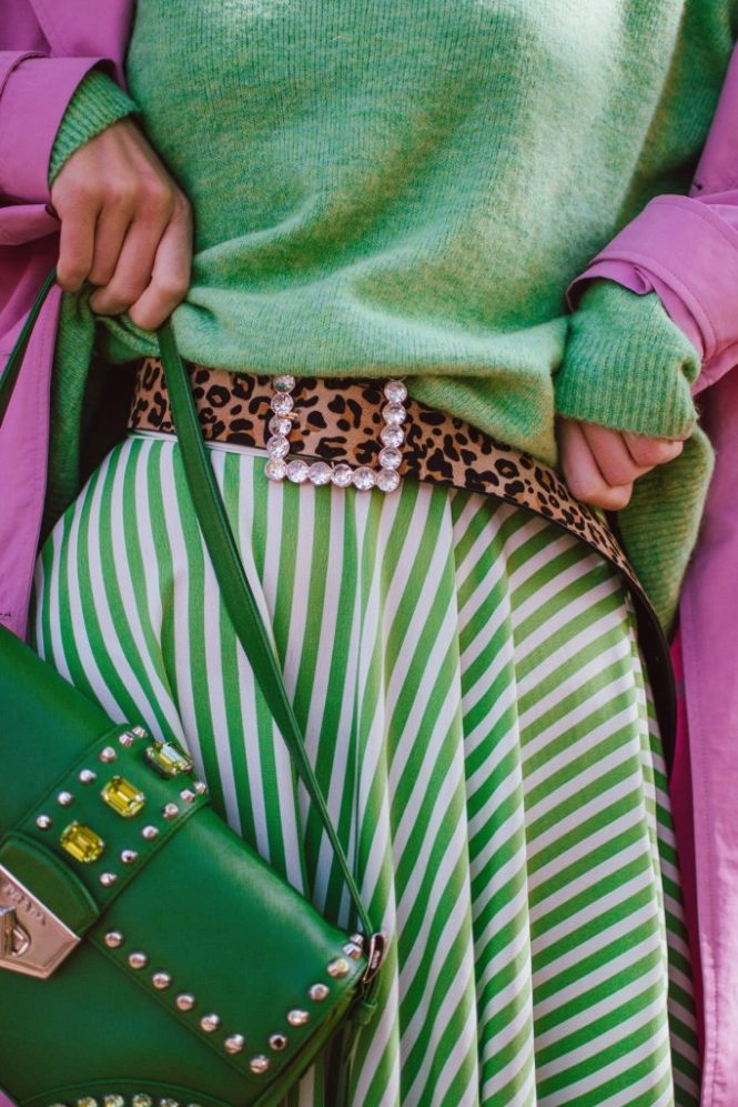 How to look fashionable on a very strict budget, pink trench coat, green asymmetric polka dot skirt, green sweater, andreea birsan street style, couturezilla, cute fall outfit ideas 2018, how to wear green from head to toe, green fall outfit, autumn green outfit for women 2018, how to pull off an all green outfit, soft green knit, green sweater, green knitwear, light green sweater, midi skirt with dots and stripes, statement skirt, topshop skirt, topshop style, high street finds, green and white midi asymmetric skirt with dots and stripes, polka dot skirt, striped skirt, how to wear polka dots, how to wear a polka dot skirt and a sweater, polka dot skirt and green sweater, green skirt and green sweater, midi skirt and sneakers, how to wear skirts with sneakers, pink and green outfit, color block outfit, zara pink trench coat, how to wear a colorful trench coat, how to wear pink, how to wear a pink trench coat, pink trench coat fall outfit 2018, pink trench coat and green skirt and sweater, trench coat weather, trench coat street style outfit, gucci ace heart embroidered sneakers, whie leather gucci sneakers, gucci trainers, gucci white kicks, how to pull off white sneakers and skirts, autumn layers, warm autumn outfit, black moschino inspired cat eye sunglasses, clear lens glasses, fall in the park, green leather shoulder prada bag with studs and stones, prada green leather bag, statement bag, how to look Parisian chic, European summer street style inspiration for women 2017, pinterest chic outfit ideas for woman, summer outfit ideas, summer ootd inspiration, outfit of the day, ootd, fashion icon, style inspiration, fashionista, fashion inspiration, style inspo, what to wear in summer, how to look French, chic on a budget, zara outfit, mango, topshop, asos, river island, forever 21, urban outfitters, how to mix high end pieces with luxury ones, zara and Gucci,outfit alternatives for summer, tomboy chic, minimal outfit, tumblr girls photos, pictures, happy girl, women, smart casual outfits, the best outfit ideas 2017, what to wear when you don't feel inspired, summer in Europe, weekend attire, uniform, French women in summer, European outfit ideas 2017, minimal chic outfit, how to stand out, the best outfit ideas for summer, the sunglasses you have seen everywhere on Instagram, glasses, uk fashion blogger, united kingdom, uk fashion blog, fashion and travel blog, Europe, women with style, street style, summer fashion trends 2017, best fashion ideas, styling, fall fashion, fall outfit, fall ootd, fall perfect, transitional dressing, best transitional outfit ideas, how to wear statement earrings, dressing for autumn, autumn outfit, winter outfit ideas for work and school